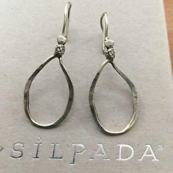 SILPADA  Lasso Hammered Oval Earrings